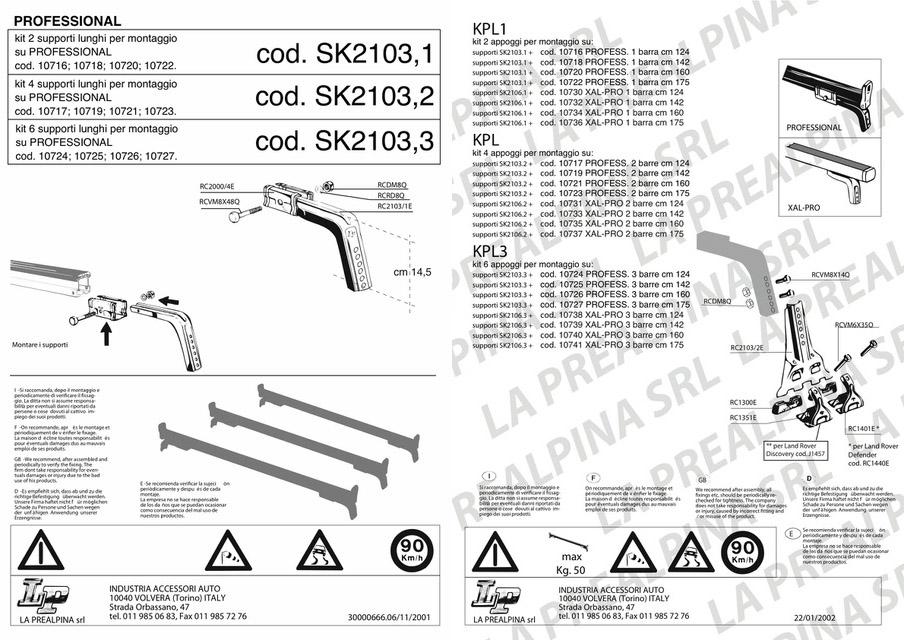istruzioni di montaggio SK2103